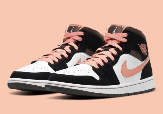 Light Pink Accents Dress Up The Air Jordan 1 Mid