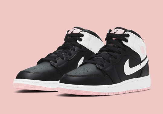 """Another Girl's-Exclusive Air Jordan 1 Mid Gets A Touch Of """"Arctic Pink"""""""