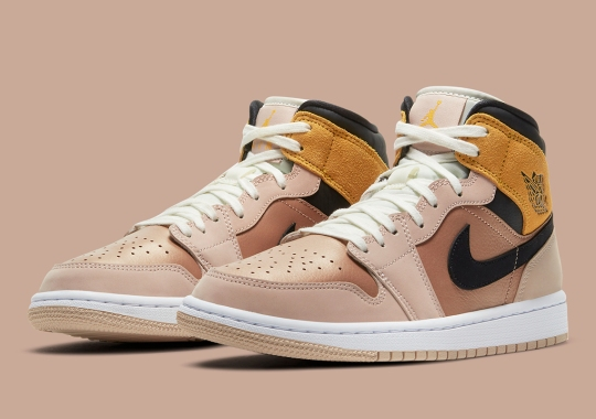 Particle Beige And Metallic Red Bronze Cover This Upcoming Air Jordan 1 Mid