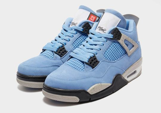 "Detailed Look At The Upcoming Air Jordan 4 ""UNC"""