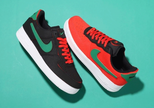 The Customizable Nike Air Force 1/1 Just Released In Christmas Colors