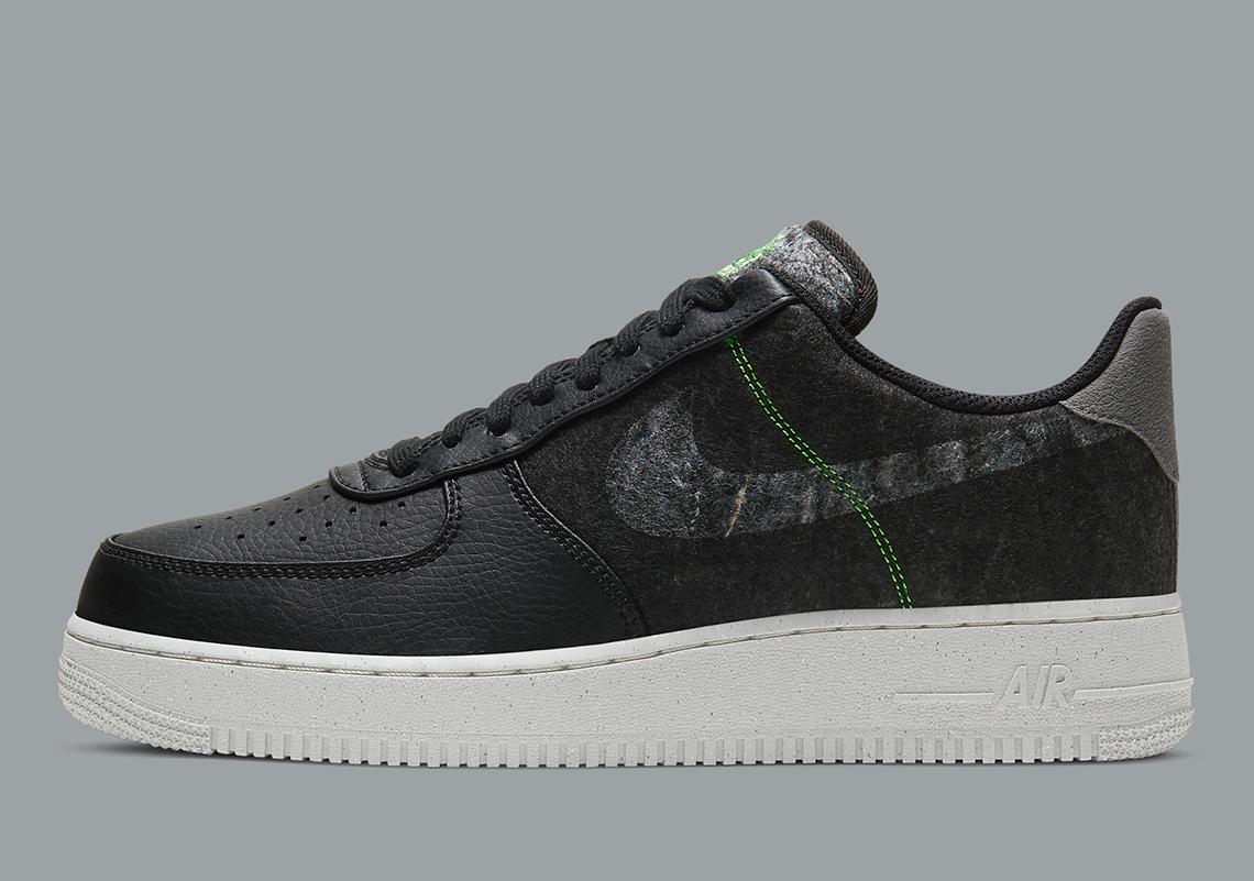 Nike Air Force 1 Black Electric Green CV1698-001 | SneakerNews.com