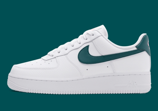 """Nike Air Force 1 Low """"Dark Teal Green"""" Sees Subtle Hits Of Sunset Pulse"""