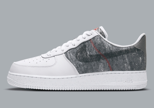 """The Recycled Wool Nike Air Force 1 Low Is Dropping In """"White/Light Smoke Grey"""""""