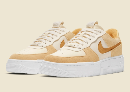 A Mix Of Tan Hues Land On The Women's Nike Air Force 1 Pixel