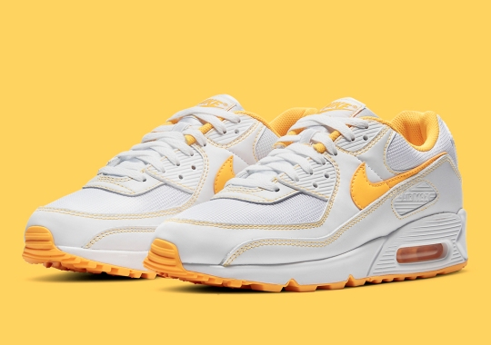 """The Nike Air Max 90 Accents Its Upper With A Touch Of """"Laser Orange"""""""