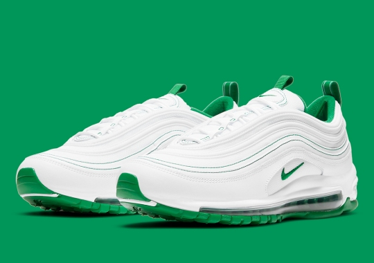 Contrast Green Stitching Appears On The Nike Air Max 97