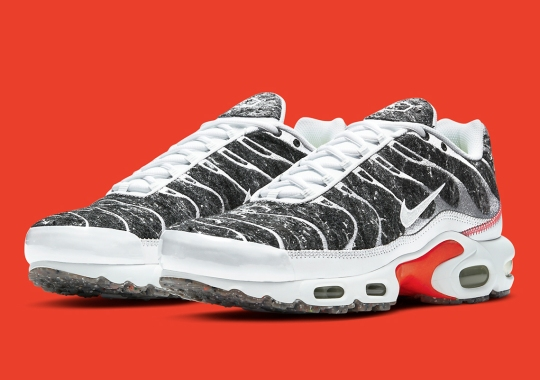 Nike Combines Recycled Wool With Thread Embroidery On The Air Max Plus