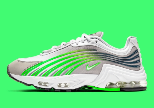 The Nike Air Max Plus II Appears With Bright Green Overlays