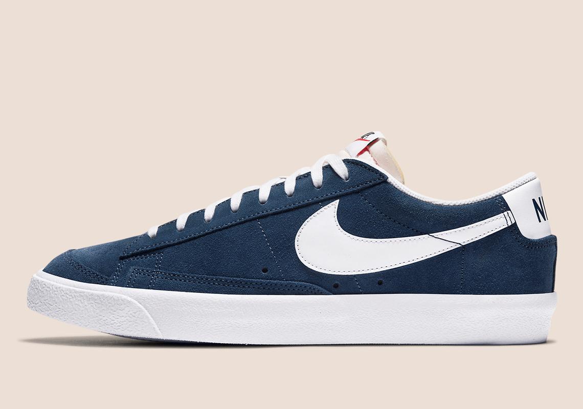 Nike Blazer Low '77 Suede Navy Blue DA7254-400 | SneakerNews.com