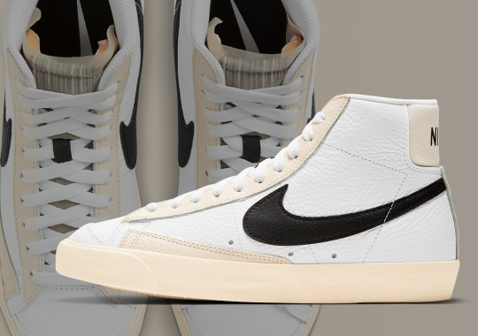 Nike Blazer Mid '77 Adds Barcode Identification On The Tongue