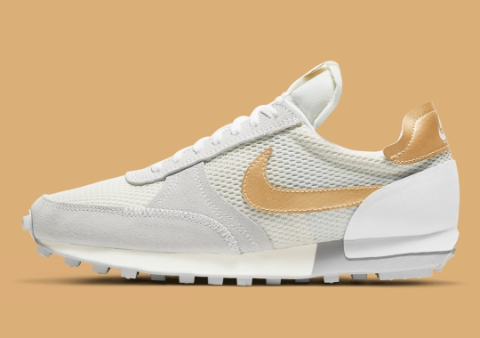 """This Women's Nike Daybreak Type Gets A """"Pale Ivory/Metallic Gold"""" Update"""