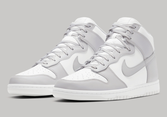 """The Nike Dunk High """"Vast Grey"""" Is Releasing In Adult And Kids' Sizes"""
