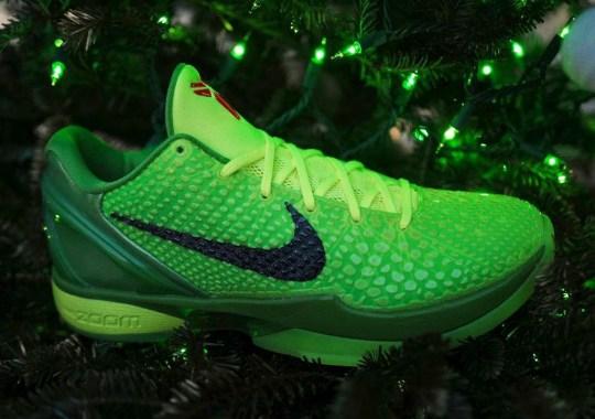 "The Nike Kobe 6 Protro ""Grinch"" Releases Tomorrow"
