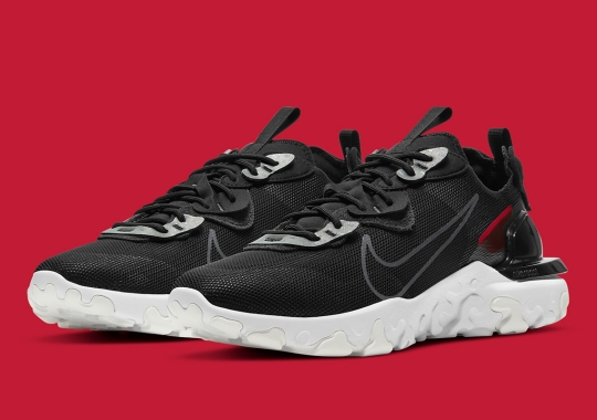 3M's Reflective Laceguards Return Atop This Black/Red Nike React Vision