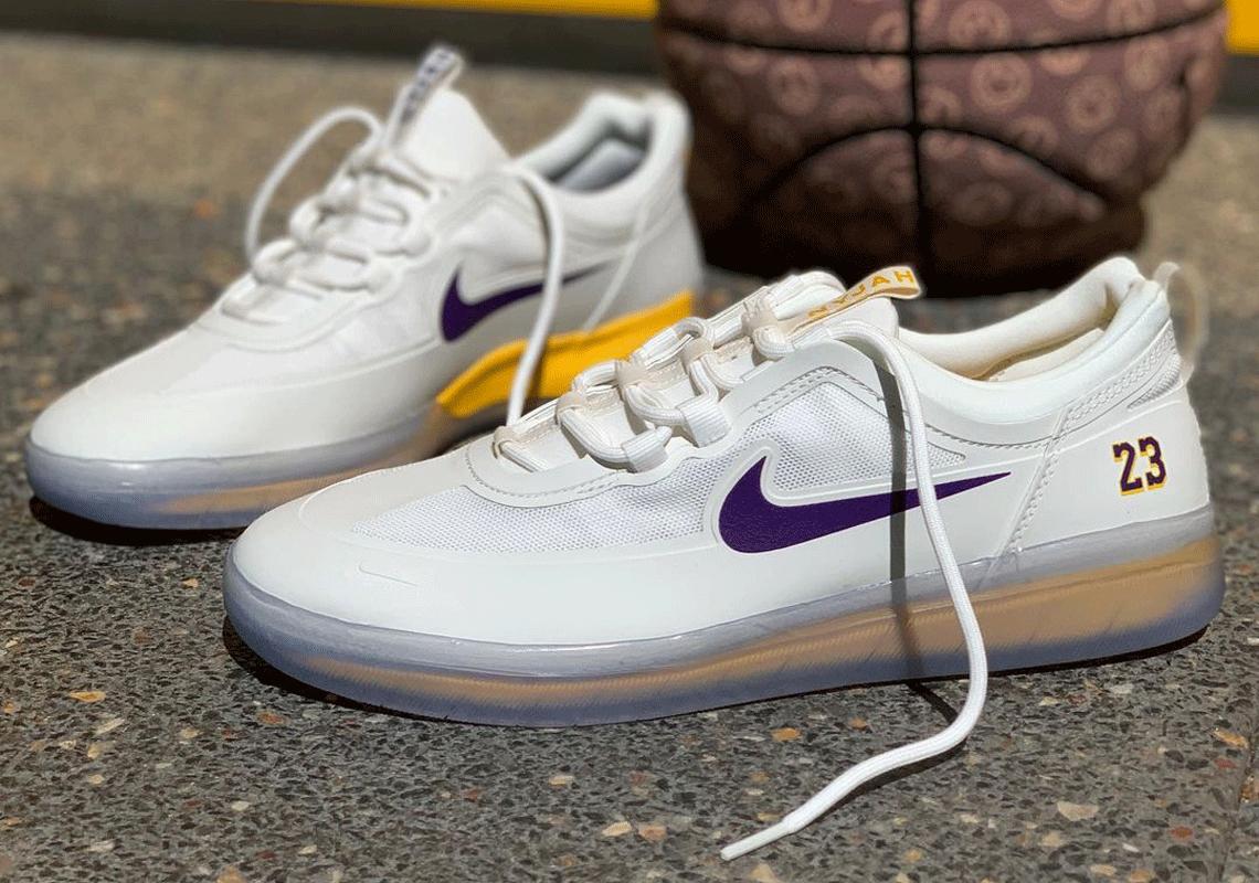 Nike SB Nyjah 2 Los Angeles Lakers NBA Release   SneakerNews.com