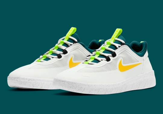 "The Nike SB Nyjah 2 Gets ""Volt"" And ""Spruce Lime"" Accents"