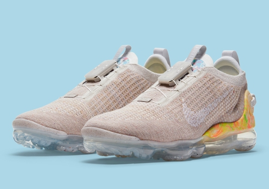 Tanned Knits Compose The Upper Of This Nike VaporMax 2020 Flyknit