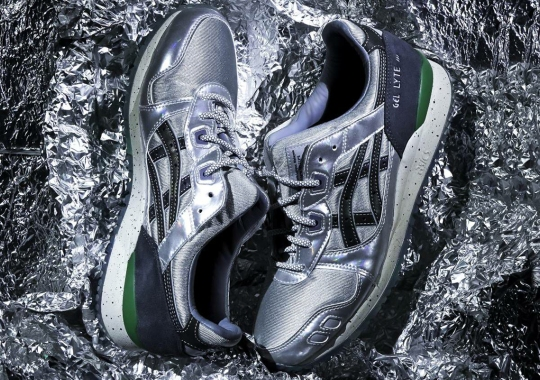 SneakerLAH And HUNDRED% Bring Silver Uppers To The ASICS GEL-Lyte 3