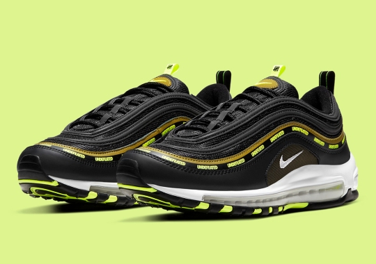 Official Images Of The Undefeated x Nike Air Max 97 In Black And Volt