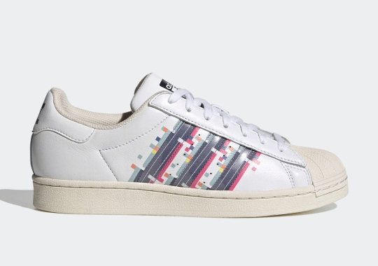 Glitchy Stripes Appear On The adidas Superstar