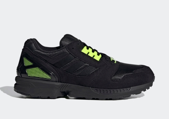 The adidas ZX 8000 Is Arriving Soon In Core Black And Solar Yellow