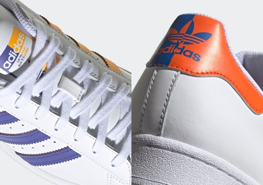 Lakers And Knicks Colors Get Split On The adidas Superstar