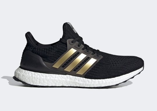 The adidas Ultra Boost 4.0 DNA Adds Metallic Gold Stripes