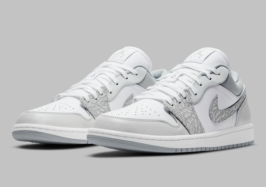 The Air Jordan 1 Low Dons Elephant Print On A DIOR Style Colorway