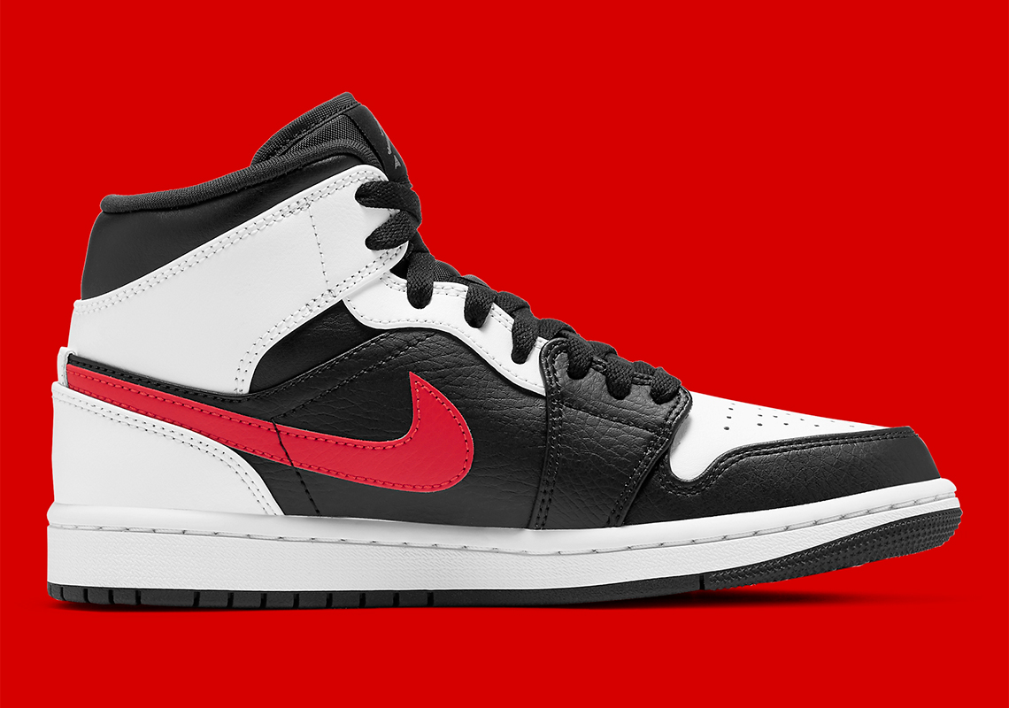 Air Jordan 1 Mid White Black Red 554724-075 | SneakerNews.com