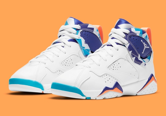 Air Jordan 7 For Girls Gets Chlorine Blue Accents For January 2021