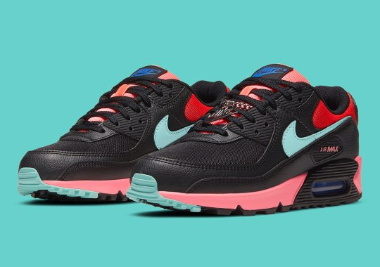 The Air Max 90 Gets Miami Vice Colors and Silver Chain Link
