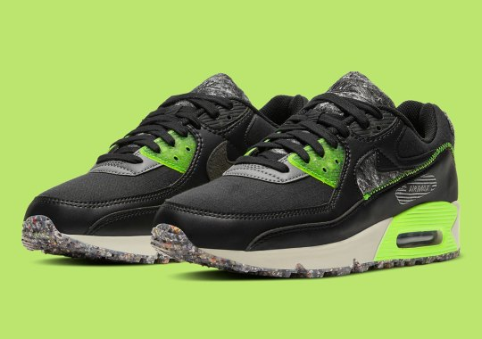 Nike Air Max 90 Sees Recycled Wool Panels And Translucent Eyelets
