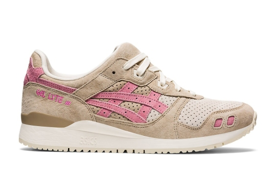 The ASICS GEL-Lyte 3 Appears In A Wood Crepe And Plum Blossom Pairing