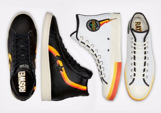 "Converse Enters The Upcoming ""Roswell Rayguns"" Collection With The Chuck 70 And Pro Leather"