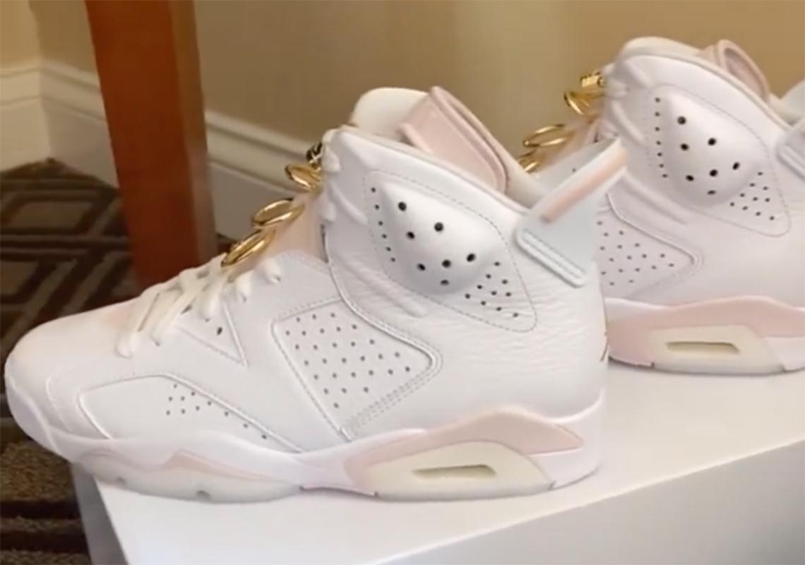 Air Jordan 6 WMNS Barely Rose Gold DH9696-100 | SneakerNews.com