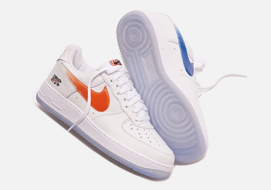 """KITH Reveals A Detailed Look At Their Nike Air Force 1 Low """"New York"""""""
