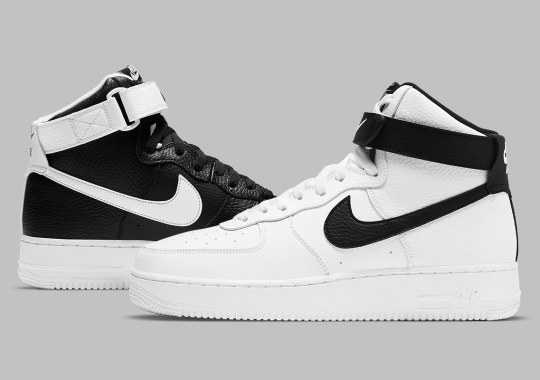 This Set Of Nike Air Force 1 Highs Invert Black And White