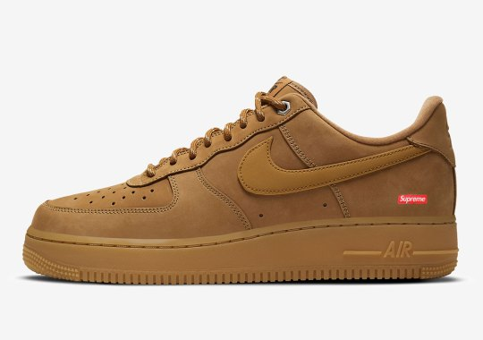 Supreme To Revisit Their Box Logo Nike Air Force 1 In Flax