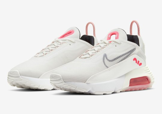 The Nike Air Max 2090 Dons A Summit White And Siren Red Mix
