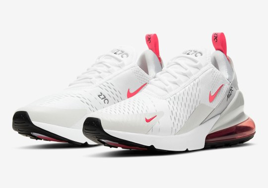 White And Laser Fuschia Cover The Nike Air Max 270
