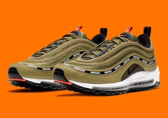 """Official Images Of The Undefeated x Nike Air Max 97 """"Militia Green"""""""