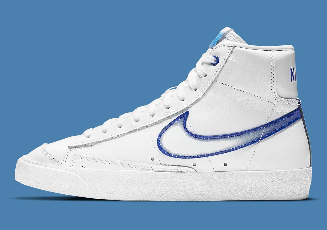 Nike Blazer Mid 77 White/Royal DD9685-100 | SneakerNews.com