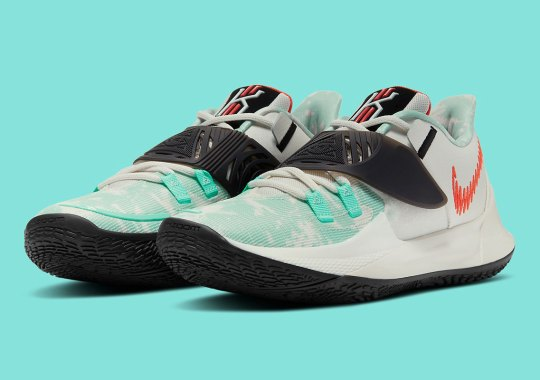 The Nike Kyrie Low 3 Dazzles In Jade And Orange Colorway