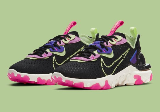 Multi-Colored Neons Land On This Women's Nike React Vision