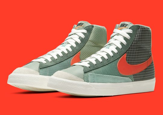 "The Nike Blazer Mid '77 ""Patchwork"" Arrives In Green-Based Palette"