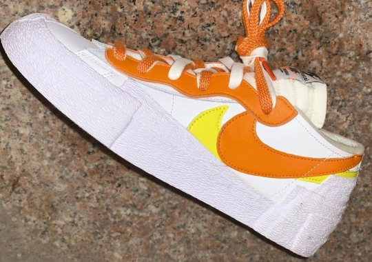 "Up Close With The Upcoming sacai x Nike Blazer Low ""Magma Orange"""