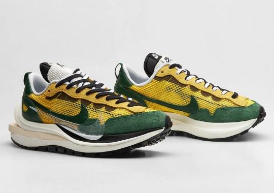 Where To Buy The sacai x Nike Vaporwaffle Tour Yellow/Gorge Green