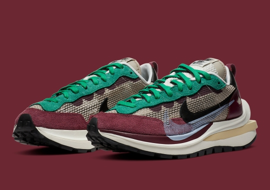 """Official Images Of The sacai x Nike VaporWaffle """"Villain Red"""""""