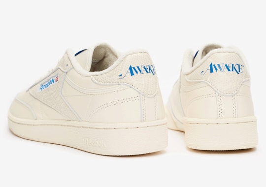 AWAKE NY Preps The Reebok Club C And Classic Leather In Cream And Snakeskin
